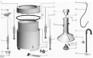 componentes maquina de lavar